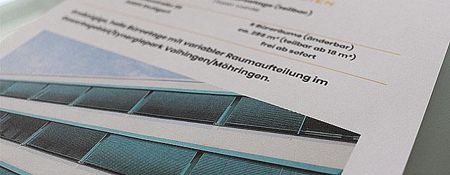 Exposé Vermietung Gewerbemakler Stuttgart