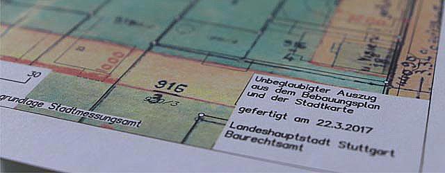 Bebauungsplan Stuttgart für Fakten Immobilienverkauf von privat